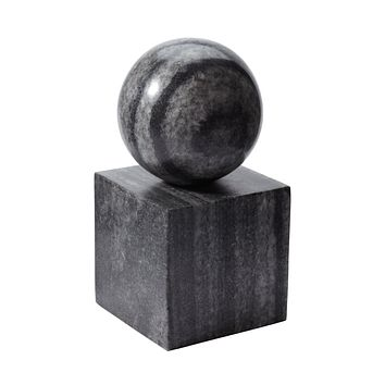 786022 Gray Marble Minimalist Bookend