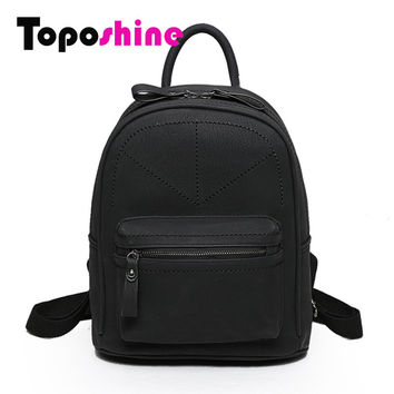 Toposhine Rotro Backpack Women PU Leather Bag Women Bag Small Women Backpack Mochila Feminina School Bags for Teenagers 1591