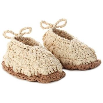 Hallmark Lamb Knitted Baby Booties, 0-12 Months