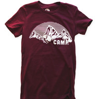 Camp Brand Goods — ROCKY MOUNTAIN FITTED T | MAROON