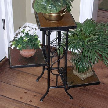 Slate 3-Tier Plant Stand - Outdoor (Brown)