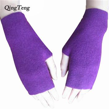 Fingerless women gloves for touch screens womens cashmere gloves heated wool fingerless gloves guanti invernali elegant