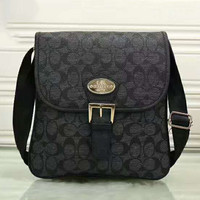 COACH Print Mk Logo  Crossbody hand Bag Black G-LLBPFSH