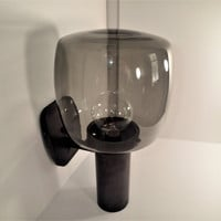 Mid Century Outdoor Industrial lighting smoke glass globe, double socket, outdoor sconce fixtures, 3 available