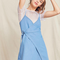 Urban Renewal Remade Denim Wrap Mini Dress | Urban Outfitters