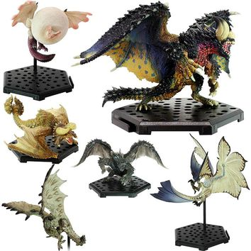 95-100 (Jimusuhutu) Nergigante Monster Hunter Figures Japan PSP Games Capcom Wind Fly Dragon PVC Model Toy Newest Style