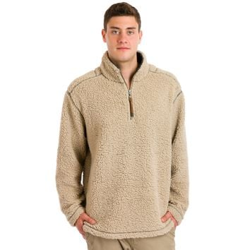 True Grit Men's Sueded Soft Sherpa 1/4 Zip Pullover