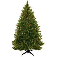Pre-Lit 6.5' Vermont Fir Artificial Christmas Tree, 450 Multi Lights - Walmart.com