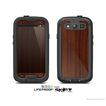 The Walnut WoodGrain V3 Skin For The Samsung Galaxy S3 LifeProof Case