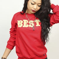 BREEZY EXCURSION ONLINE SHOP/STORE/SPENDING CENTER  — Women's NINER BEST Crew Red