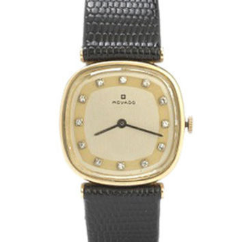 Pre-Owned 14K Yellow Gold & Diamond Mens Movado - 17 Jewel Manual Wind Movement