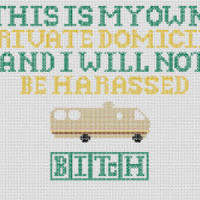 "Breaking Bad ""My Own Private Domicile"" Quote Cross Stitch Pattern"