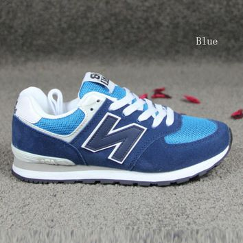 new balance running shoes leisure shoes gump sneakers lovers shoes n words blue
