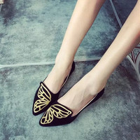 Womens Lovely Butterfly Design Flats