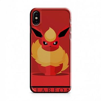 Flareon Pokemon Go iPhone X Case