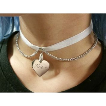 Custom Engraved Choker - Kitten's Playpen