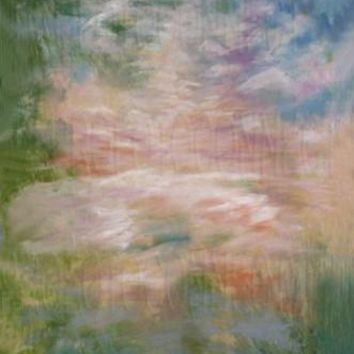 MONET SCENIC MUSLIN PHOTO BACKDROP HAND PAINTED  - 6x9 - LCMO42239 - LAST CALL