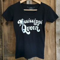 Mississippi Queen 70's Tee Blk/White | Bandit Brand General Store