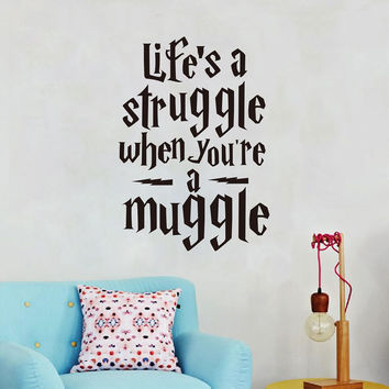 """Harry Potter """"Life is a struggle..."""" Wall Stickers Vinyl Decals For Wall Decoration"""