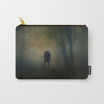 The Hound In The Woods Carry-All Pouch by Theresa Campbell D'August Art