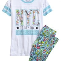 NYC LEGGING PAJAMA SET | GIRLS PAJAMAS SLEEP & UNDIES | SHOP JUSTICE