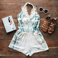 A Little Tie Dye Romper in Light Blue