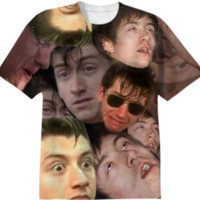 THE MANY FACES OF ALEX TURNER T-SHIRT created by whtsrnm | Print All Over Me