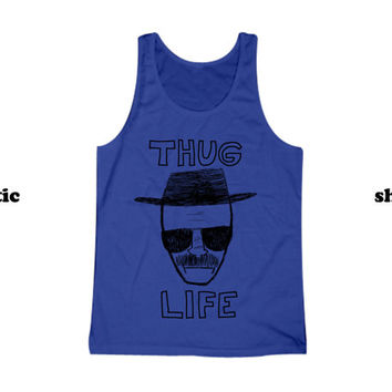 Breaking Bad Tank Top | Thug Life Heisenberg Grey Shirt | Funny TV Clothing