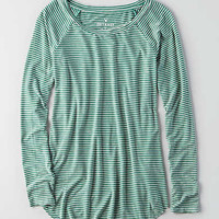 AEO Soft & Sexy Raglan T-Shirt, Green
