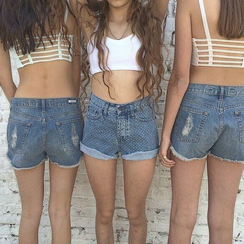 Fashion Women Casual Sleeveless Short Crop Tops Tank Belt Cross in Back