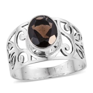 Brazilian Smoky Quartz Sterling Silver Ring