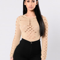 Become One Bodysuit - Taupe