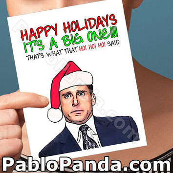 Christmas Cards | Michael Scott | Jim And Pam The Office Tv Show Husband Christmas Merry Christmas Card Girlfriend Card Boyfriend Card Aunt