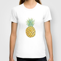 Pineapple on Aztec T-shirt by Kate