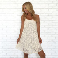 Eccentric Ivory Lace Shift Dress
