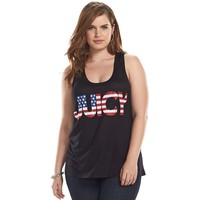 Juicy Couture American Flag Graphic Tank Top - Women's Plus Size, Size: