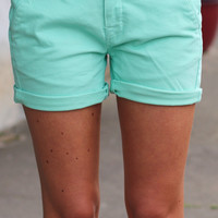 Ibiza Short Trouser {Mint} by DEX Jeans