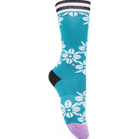 Stance Hula Flowers Socks - Womens Scarves - Lavender/Sea Blue - One