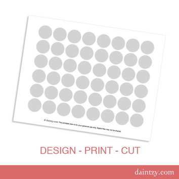 Instant Download: Mini Cupcake Topper Printable Template - DIY Blank Make Your Own Party Circles Design Template by daintzy
