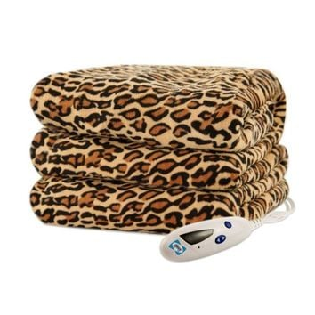 Biddeford 4441-907484-791 Heated Throw, 50 by 62-Inch, Cheetah Print