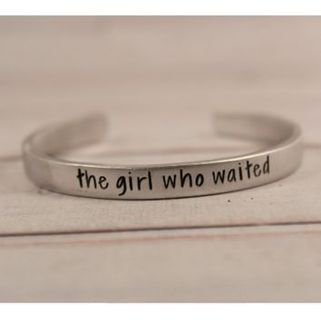 """the girl who waited"" Doctor Who Inspired Cuff Bracelet"