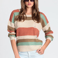 No Doubt Striped Sweater - $44.00: ThreadSence, Women's Indie & Bohemian Clothing, Dresses, & Accessories