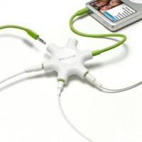 Belkin Rockstar Multi Headphone Splitter (Light Green) (Discontinued by Manufacturer)