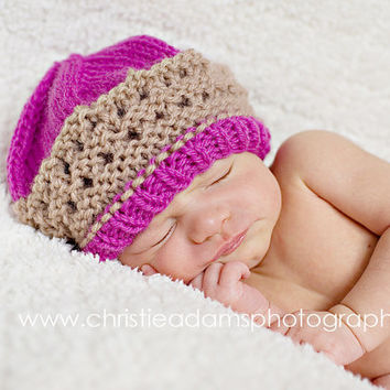 Newborn Knit Hat Baby Girl Hats Baby Hats Newborn by knoodleknits