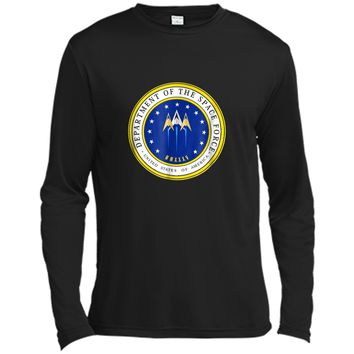 Department of Space Force Funny Political Satire T-Shirt Long Sleeve Moisture Absorbing Shirt