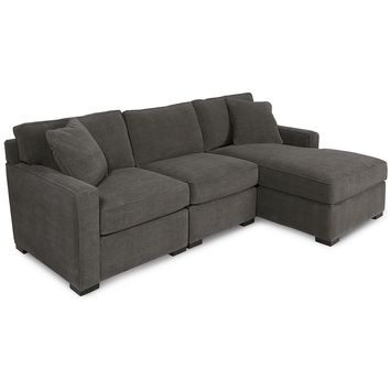 Radley 3-Piece Fabric Modular Sectional Sofa