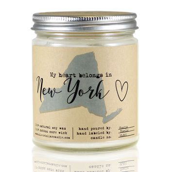 New York State Candle - 8oz Soy Candle