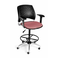 OFM Office Furniture 326-AA3-DK-2208 Stars Swivel Coral Pink Task Chair
