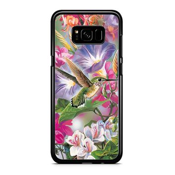 Hummingbirds And Flowers Samsung Galaxy S8 Case