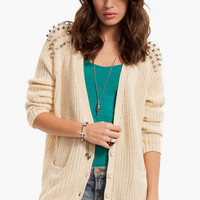 Shoulder Stud Cardigan $53